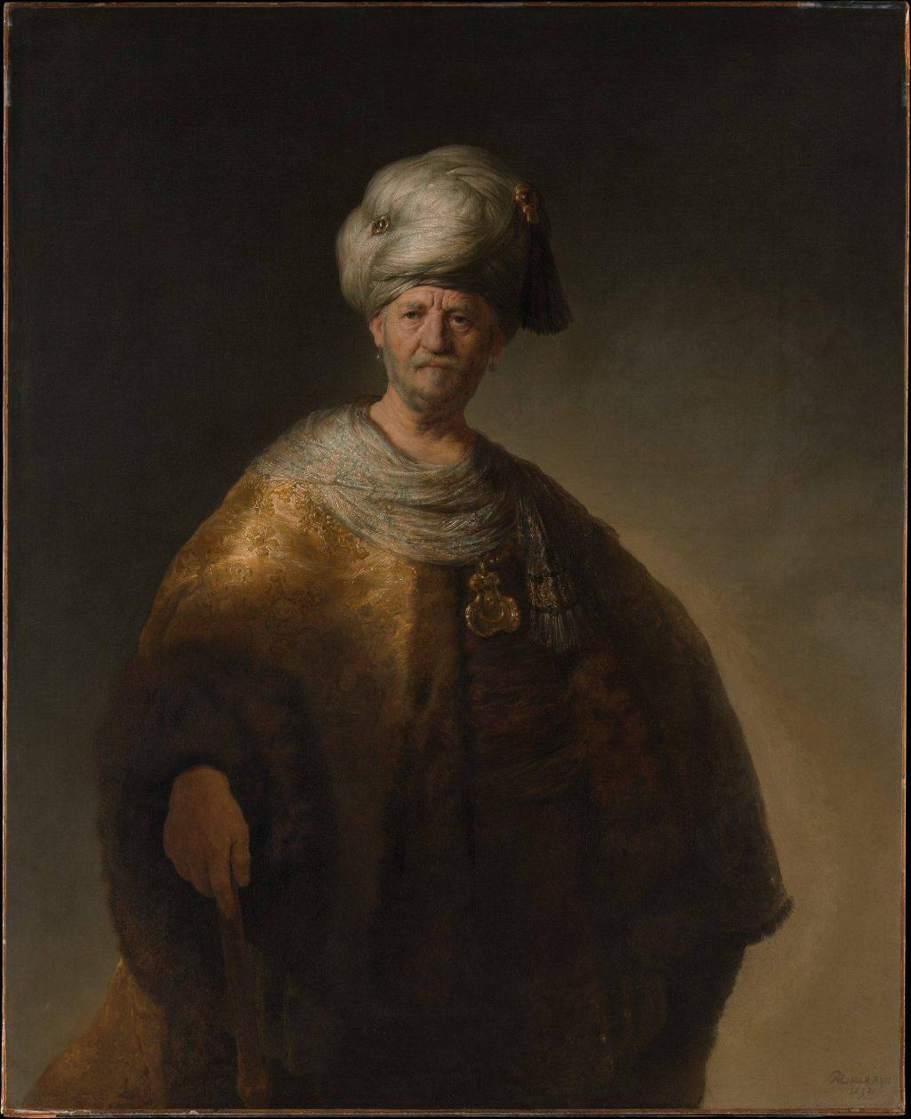 Rembrandt van Rijn, 'Man in Oriental Costume ('The Noble Slav'), 1632. Bequest of William K. Vanderbilt, 1920. Metropolitan Museum of Art, New York