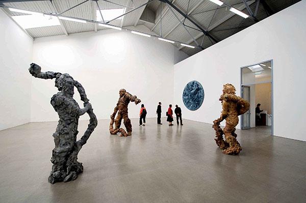 Installation view of a Stella Hamberg exhibition at Eigen+Art (The Spinnerei)