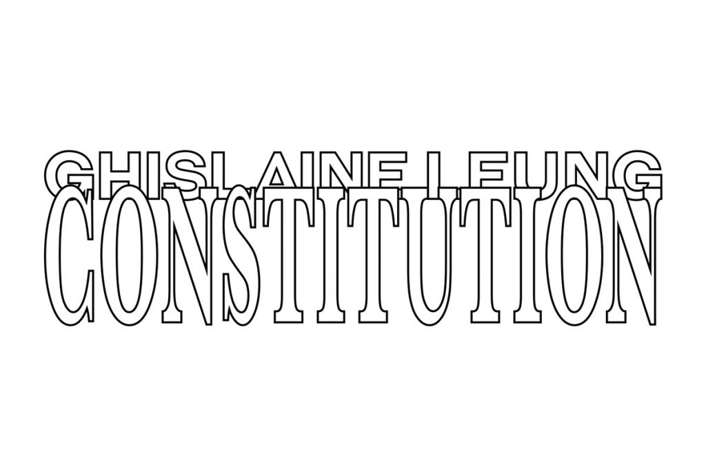 Chisenhale Gallery: Ghislaine Leung, CONSTITUTION