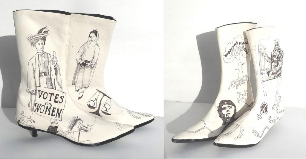Mary Rouncefield: 'Campaign Boots' [Image - The Artists' Pool]
