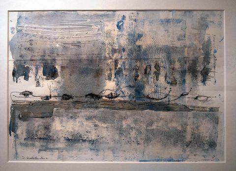 Shân Monteith-Mann: 'Closed Island Kelp' (acrylic, watercolour and ink on paper)