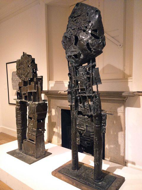 St Sebastian I and His Majesty the Wheel (1957 bronze, 1958-59, bronze)