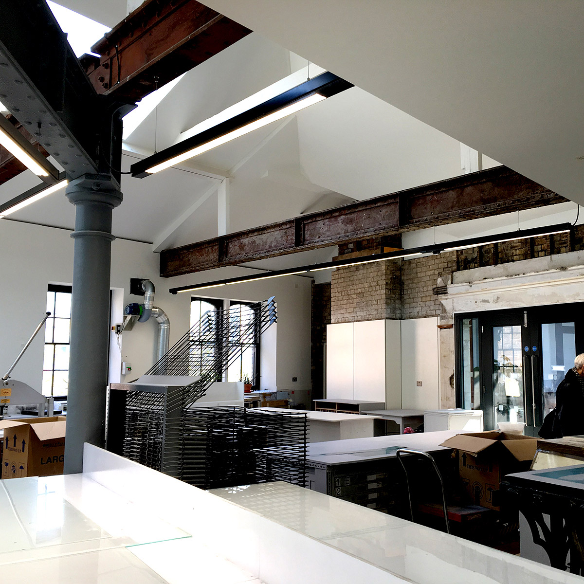 New print workshop facilities on upper level (Page \ Park, architects)