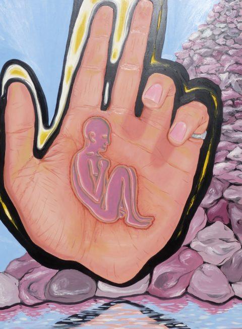 """""""Held"""" 1987 oil on canvas by Sean McGlashan"""