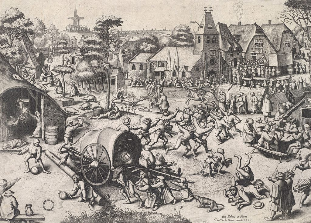 Joannes and Lucas van Doetecum, 'The Fair of St George's Day', after Pieter Bruegel, etching with burin engraving, 1560