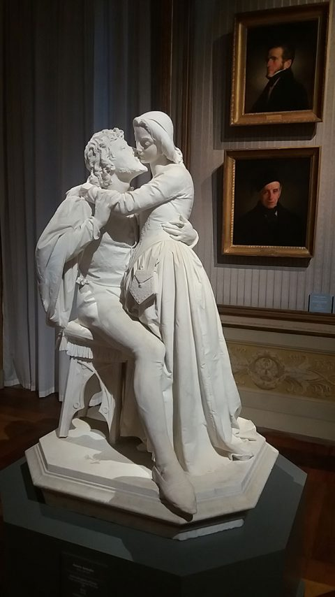 Antonio Tantardini, 'Faust and Marguerite (The Kiss)', marble, 1861 (Galleria d'Arte Moderna)