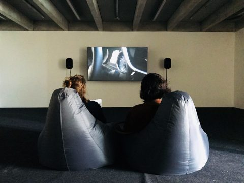 view of Enigma Bodytech, Kimberley O'Neill, HD video installation