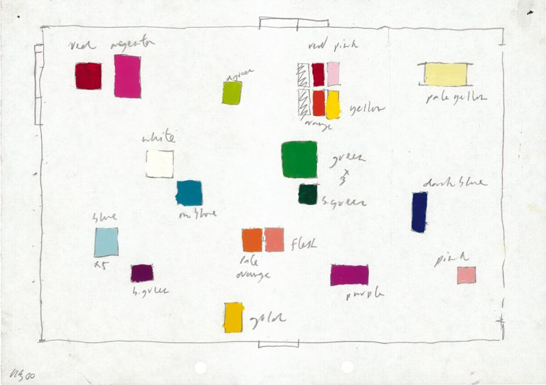 David Batchelor, King's Cross drawing, 2000, enamel paint and pencil on paper