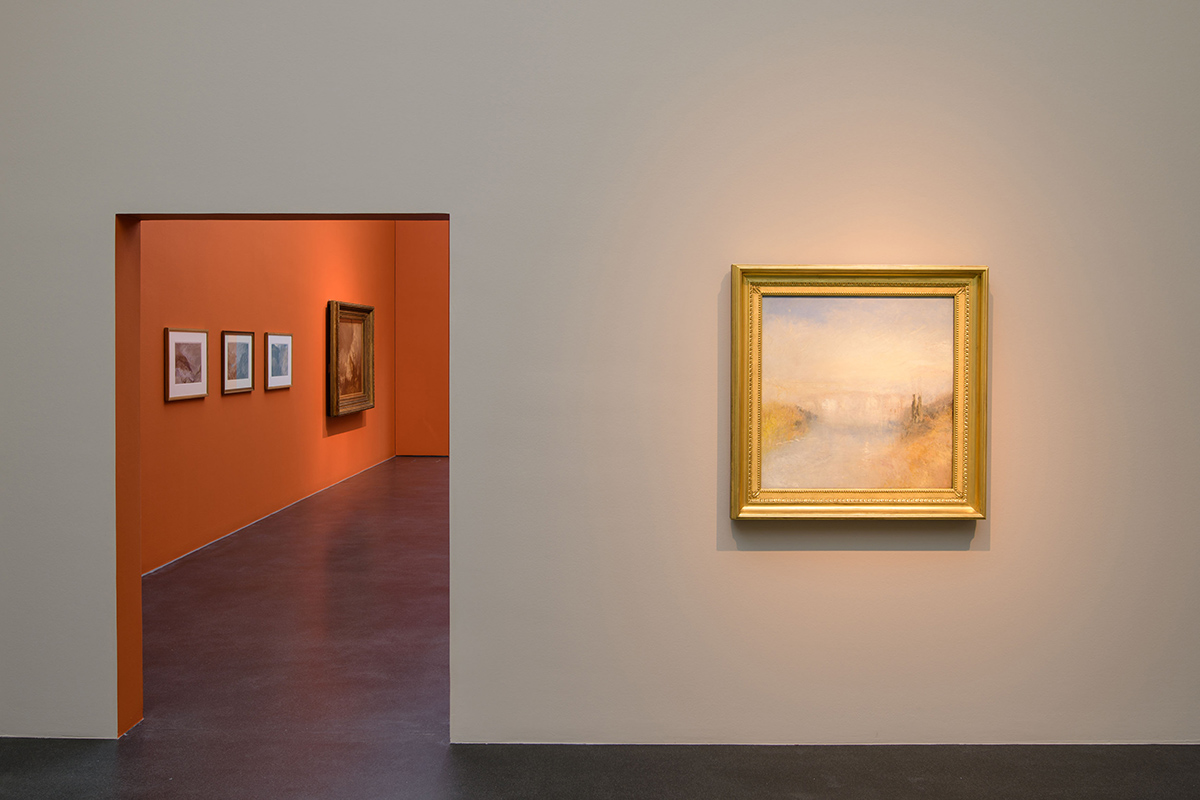 Exhibition view of Turner: The Sea and the Alps at the Kunstmuseum Luzern. Photo: Marc Latzel
