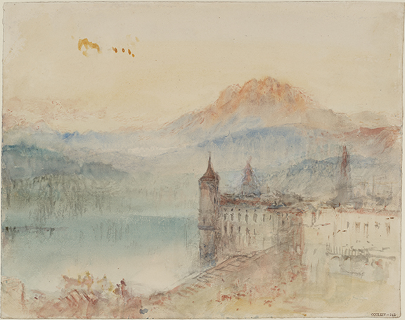 Lucerne by Moonlight: Sample Study', c.1842-43, watercolour on paper © Tate, London, 2019