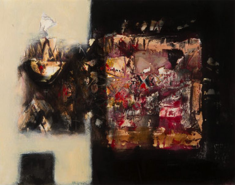 Charles MacQueen RSW RGI Mixed media on board