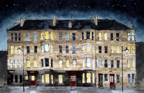 Dominic Cullen - Sauchiehall Street Stars Mixed Media