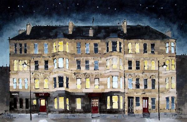 Dominic Cullen - Sauchiehall Street Stars Mixed Media