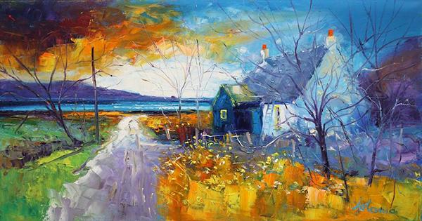 John Lowrie Morrison - Archie the Jura's House, Keills, oil.jpg