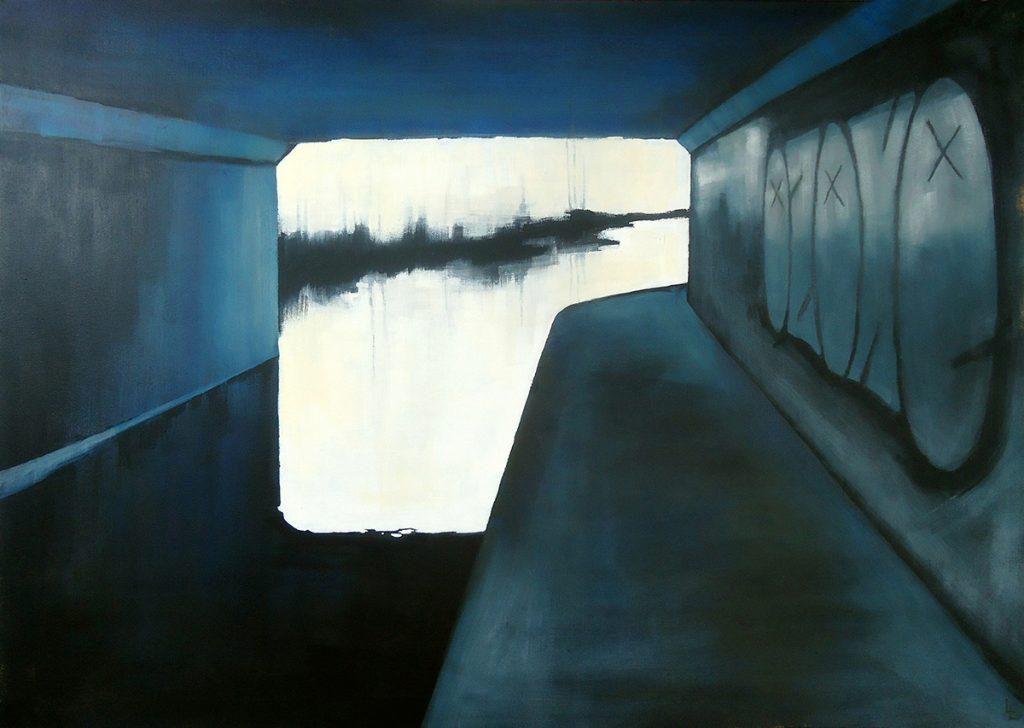 Lindsey Lavender, 'Ozone', acrylic & oil on canvas