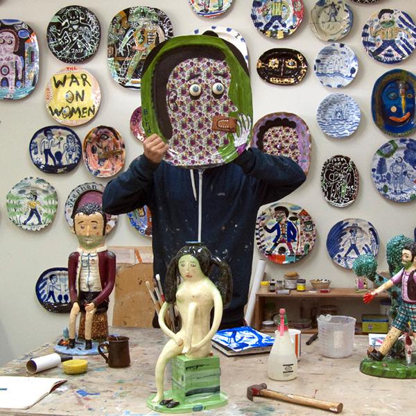 Stephen Bird in his studio, Sydney, 2017 photo: Charlotte le Brocque
