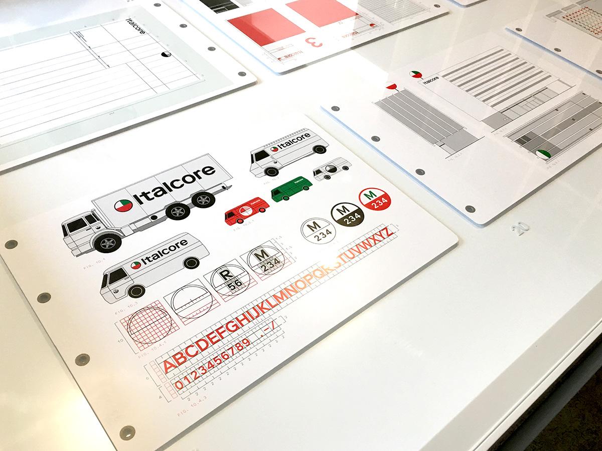 Display of Italcore corporate branding