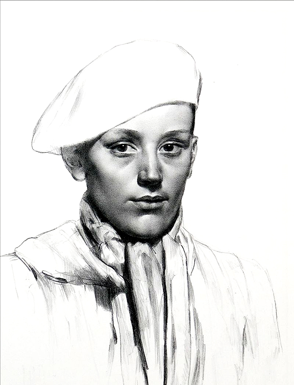 Gerald Leslie Brockhurst RA RE (1890-1978), Basque Boy, original lithograph, 1945