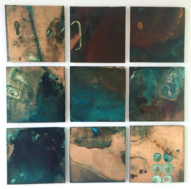Jill Martin Boualaxai - Marine Map, oxidised copper