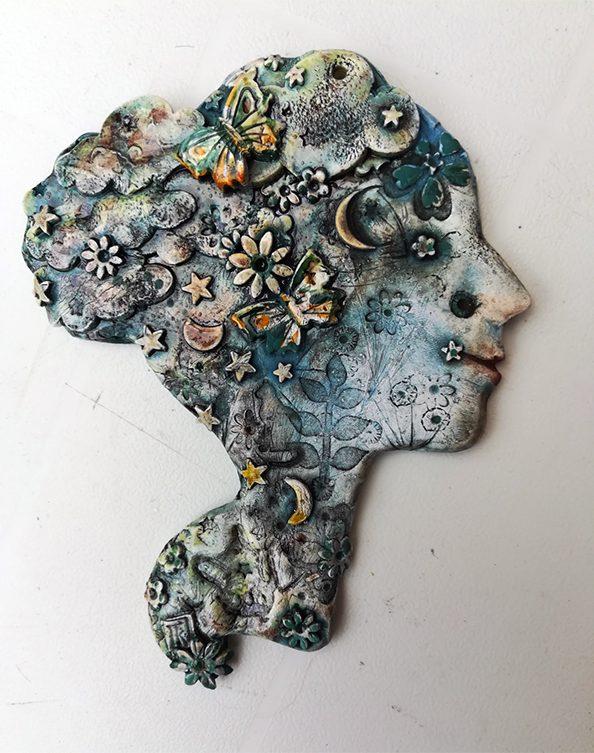 Francessca King: Summer Evening, Ceramic Wall Hanging
