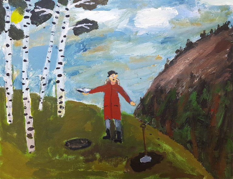 Aiden Milligan - Son of the Manse, acrylic on canvas