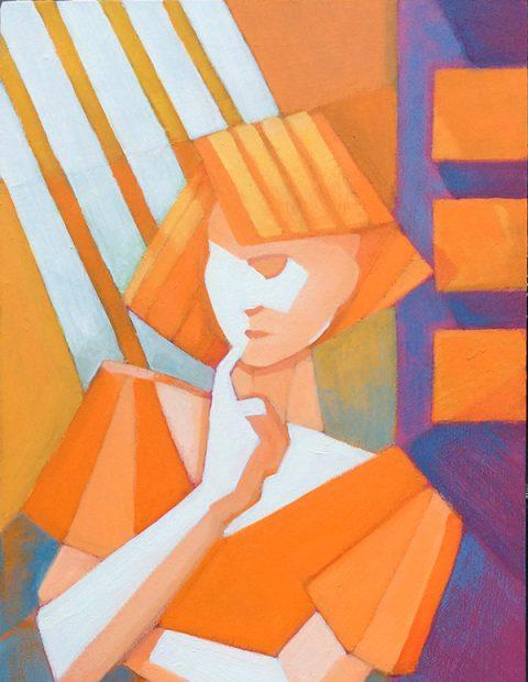 Alan Lennon - Illumination, Acrylic on Panel (detail)