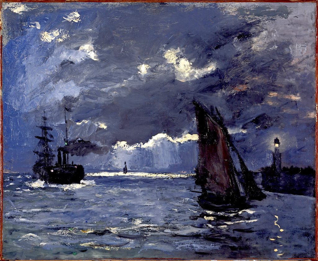 Claude Monet, A Seascape, Shipping by Moonlight, The National Galleries of Scotland