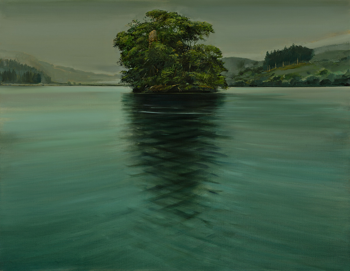 """Nicole Wheatley: Lost Castle, Loch Avich, The Castle of the Red Haired Maiden."""" Loch Avich, Argyll and Bute"""