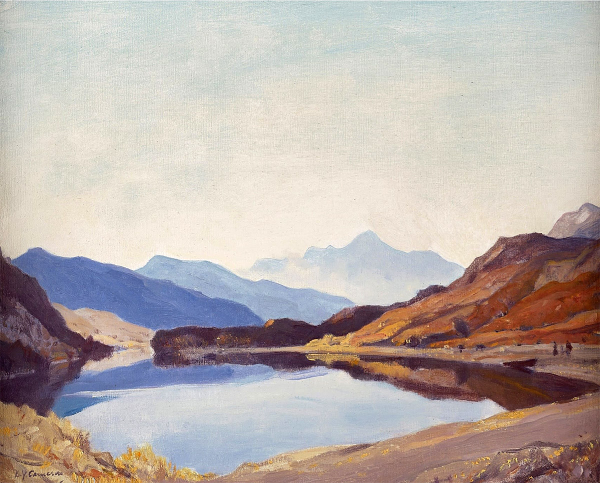 Sir David Young Cameron - October in Knoydart, oil on canvas