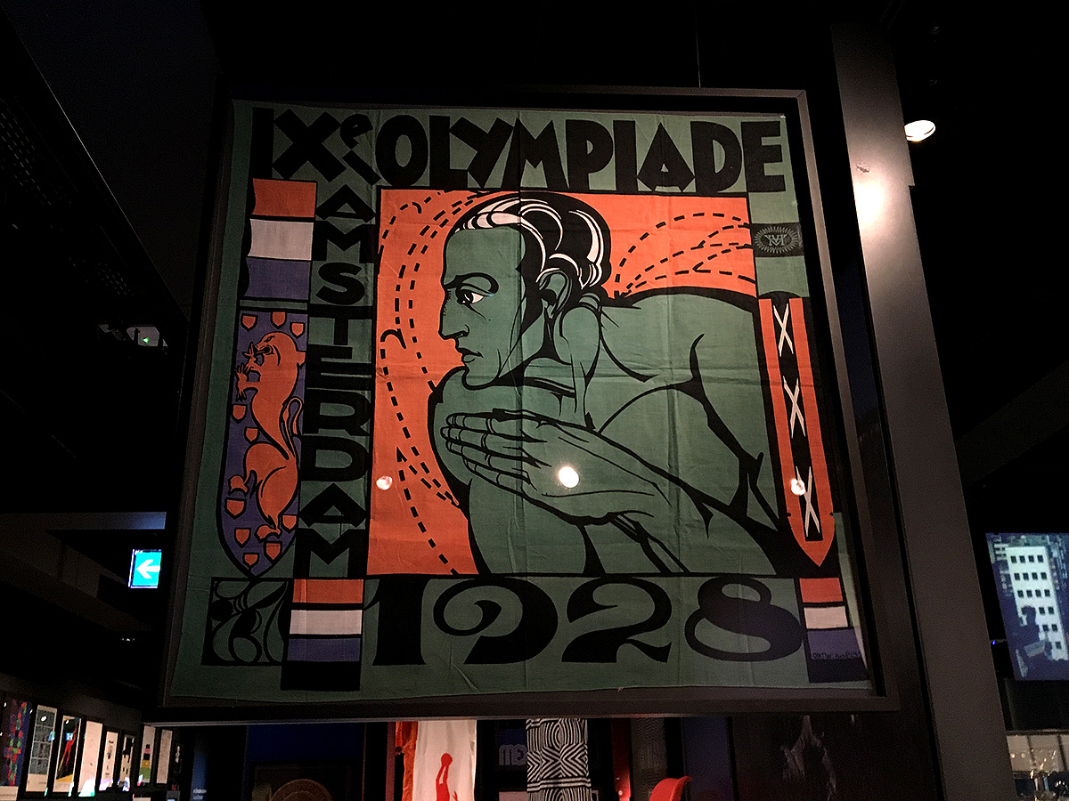 Banner for 1928 Olympiad, Amsterdam