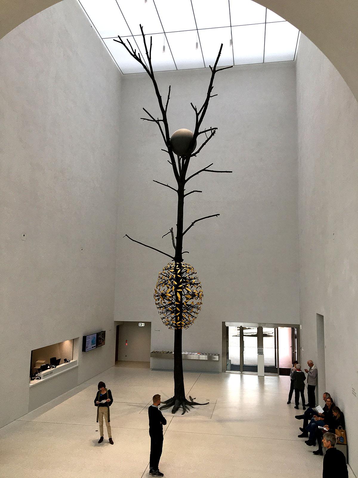Giuseppe Penone's 15-metre bronze Nut Tree sculpture