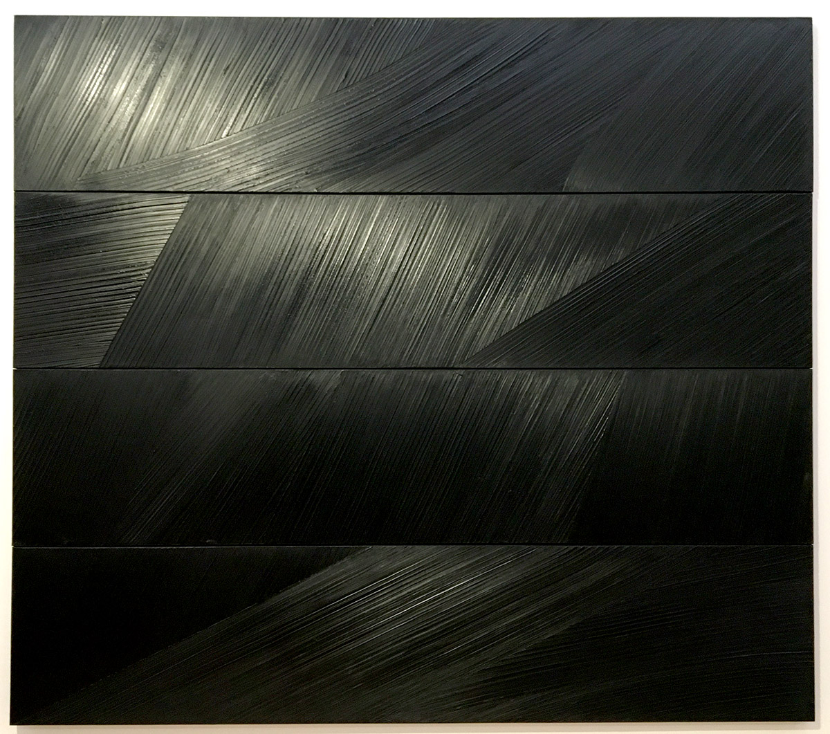 Pierre Soulages - Painting, oil on canvas