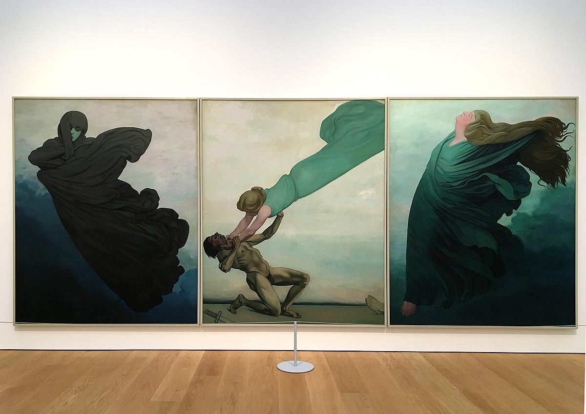 Félix Valloton - Le Deuil, Le Crime châtié, L'Éspérance, oil on canvas