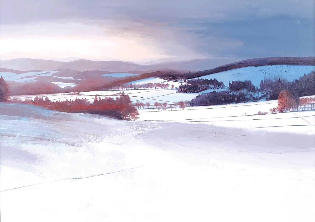 Chris Bushe - Winter Sun, Cromar, watercolour