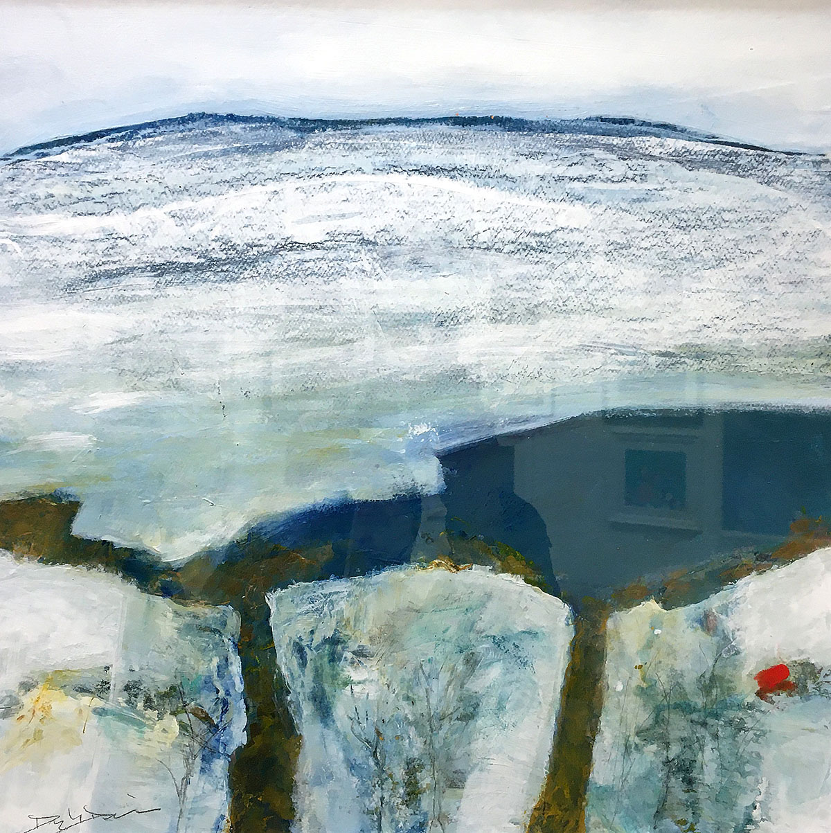 Douglas Davies - Above the Loch, watercolour