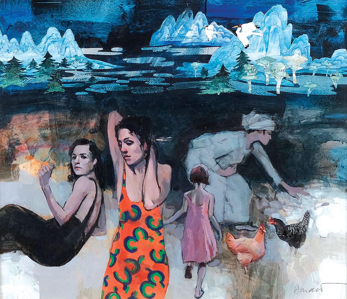George Donald - The Far Shore, watercolour