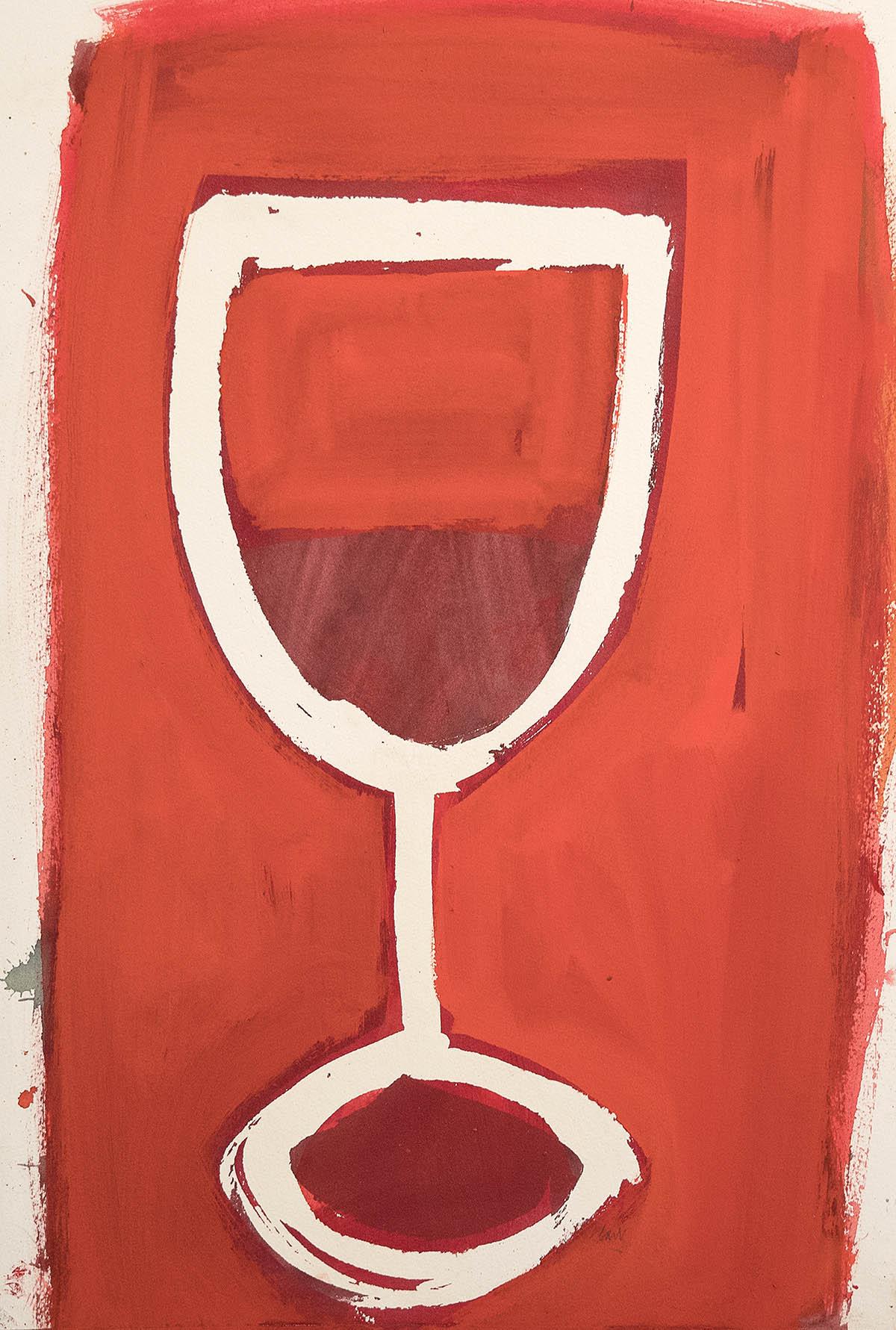 Michael G Clark, Mostly Bordeaux, watercolour
