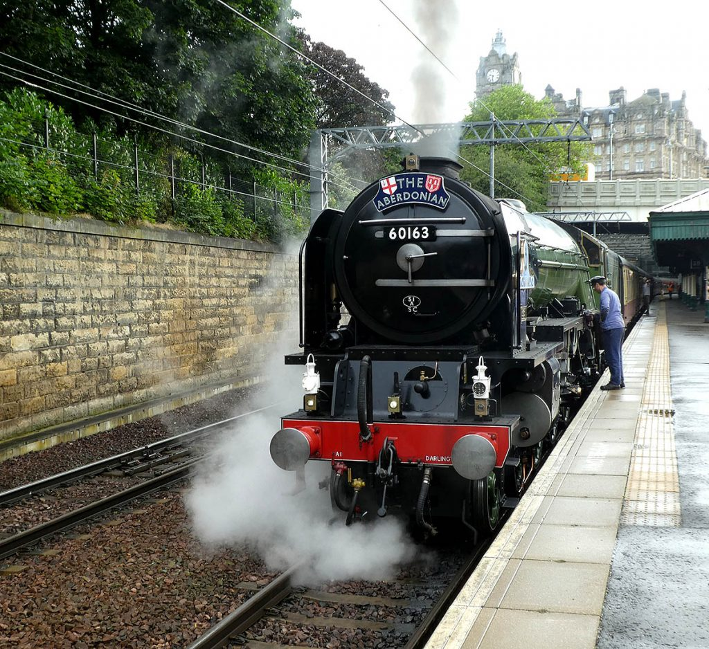 60163 Tornado at Edinburgh Waverley, 8th August 2019 - Image Michael Denholm