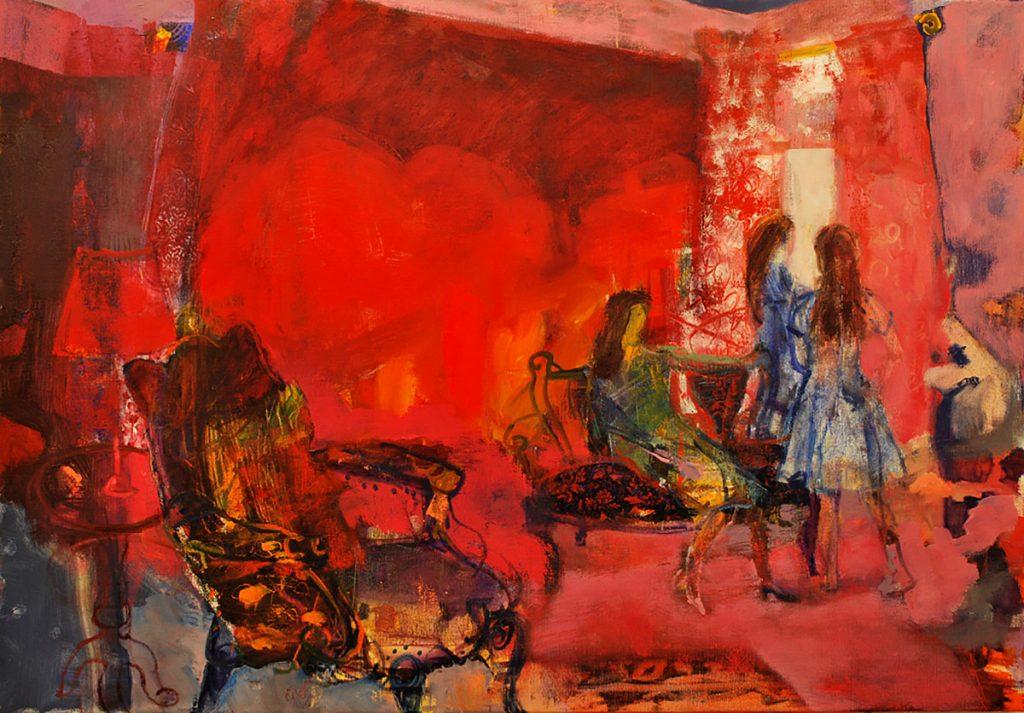 Olivia Irvine - Applency, acrylic on Arches paper