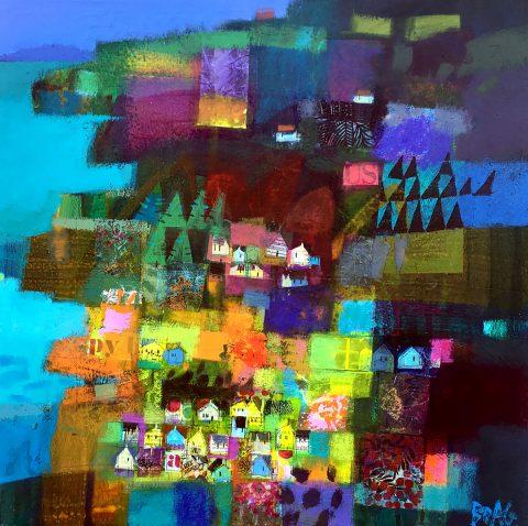 Francis Boag -Wild Atlantic Way, acrylic on canvas